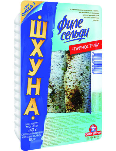 "Herring fillet ""Schhuna"", With herbs, 4 x 240g"