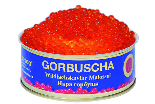 Wild salmon caviar from Gorbuscha, Premium Quality, 250g can