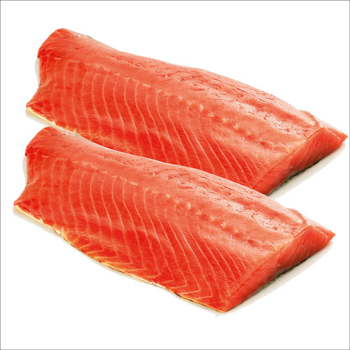 Coho-salmon fillet, cold smoked made of delicous alaska wild salmon